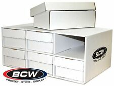 BCW Shoe Box House Filled with 6 BCW 1600 Card Storage Shoe Boxes