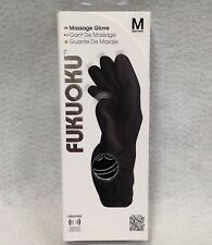 Fukuoku 5 Finger Massage Glove Right Medium Black Submersible Relax Shiatsu Gift