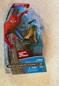 SPIDER-MAN 3 (Hasbro 2007) -- LIZARD Slashing Tail Attack AF -- On Card