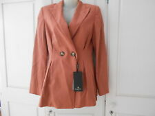 BNWT Massimo Dutti Double Breasted Rust/Salmon Pink Fit & Flare Blazer - 36/UK8