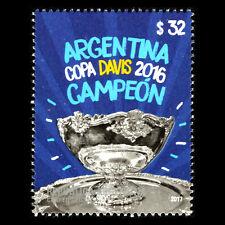 Argentina 2017 - Tennis - Argentina, Davis Cup 2016 Winners Sports - MNH
