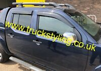 Nissan Navara D40 Wind Visors / Deflectors / Guard (Fits all 2005-2015 models)