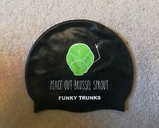 Funky Trunks Funny Swim Cap Christmas Brussel Sprout great condition