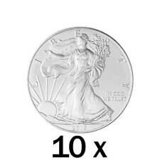 10 x 1 oz Silver 2018 Eagle Coin - 2018 US .9999 Silver - United States Mint