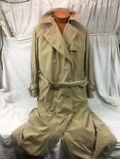 * Burberrys' Burberry * Double Breasted Beige w/Liner Trench Coat England 10/Lrg