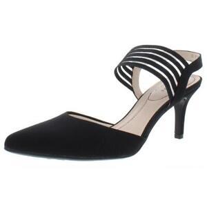 LifeStride Womens Sanya Black Pumps Dress Heels Shoes 8 Medium (B,M) BHFO 1853
