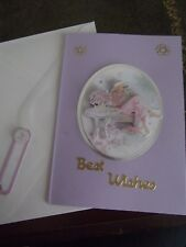 HANDMADE BIRTHDAY CARD WITH GIFT TAG ( D )