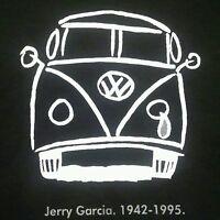 Jerry Garcia T Shirt Grateful Dead sad VW Bus dead and company, big sizes black