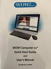 22� Wow Computer For Seniors And Baby Boomers, auction only, no offers please
