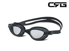 CRG Sports BLACK UV Protection Anti Fog Adjustable Swim Swimming Goggle 6900AF-B
