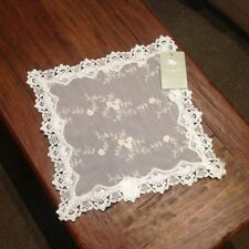 Divine Elegant Victorian Antique Look Cream  Lace Embroidered Set Of 4 Doilies