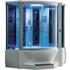 ARIEL BATH WS-701 Steam Shower with Whirlpool Bathtub