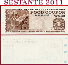 (com) US DEPARTMENT OF AGRICOLTURE FOOD COUPON 1 DOLLAR 1996 B - UNC perfect