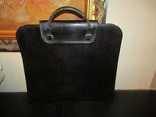 Vintage Black Leather Textured Presentation Portfolio Case France - Sam Flax