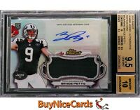 2015 Bryce Petty Topps Finest Refractor RC Rookie Jumbo Patch Auto BGS 9.5 / 10