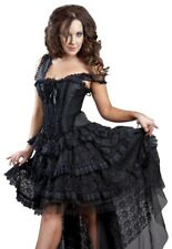 Gothic Victorian Steampunk Vintage Bustle Lace Corset Dress