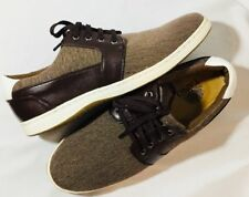 Tayno Aldo Mens Shoes Size 8 Lace Up Two Tone Brown Tweed Look Faux Leather