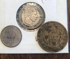 (3) Denmark Coins 1863-1905 KM#796.2/795.2/763 - VF Coins Silver & Brnz