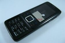 Metal Black Full Fascia Housing Cover for Nokia 6300 +Keypad Faceplate Case NEW