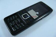 Metal Black Full Fascia Housing Cover for Nokia 6300 +Keypad Faceplate Case NEW