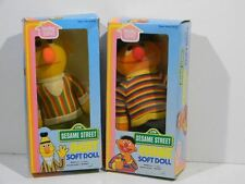 1983 Bert and Ernie dolls Muppets Jim Henson Hasbro Softies in Box Sesame Street