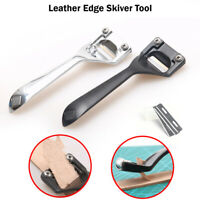 Leather Edge Skiver Tool Hand-Skiving for Thinning Leather craft with 3 Blades