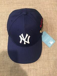 New Gucci New York Yankees Baseball Cap Butterfly Embroidery Baseball Hat Cap