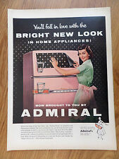 1956 Admiral Home Appliances Ad Refrigerator Freezers Ranges Air Conditioners