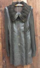 Sita Kurt / esteve Boho Chic Soft Leather Sweater Coat Size Medium
