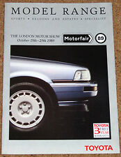1989 TOYOTA MOTOR SHOW Brochure inc Supra Celica GT4 MR2 Corolla GTi16 L/Cruiser