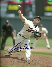 CASEY FIEN MINNESOTA TWINS SIGNED AUTOGRAPHED 8x10 PHOTO W/COA ACTION