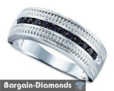 man black diamond wedding ring band .50-carat 925 business success anniversary