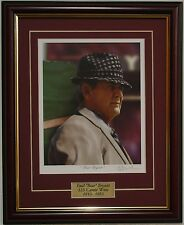 ALABAMA football Bear Bryant framed print signed by Greg Gamble