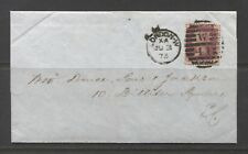 1873 GREAT BRITAIN  one penny on cover from LONDON