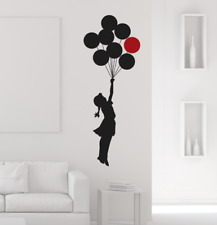 Wall Decal adesivo murale BANKSY FLYING BALLOONS GIRL   bansky, Wall stickers