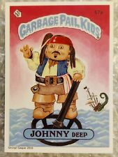 GARBAGE PAIL KIDS PROMO LIMITED EDITION: GLOSSY CARD JOHNNY DEEP/ KRAK KEN RARE!