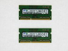 Samsung 1.35V DDR3 LV 8GB 2X4GB PC3-12800 1600 Mhz Laptop Sodimm Memory Ram