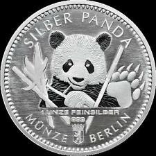 1 Oz Silber Panda 2017 Berlin in Kapsel