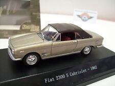 Fiat 2300 S Cabriolet closed, champagne-metallic, 1962, Starline 1:43, OVP