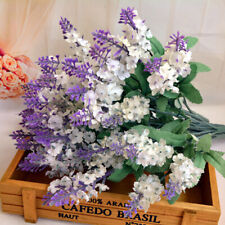 10Pcs Bouquet Artificial Silk Lavender Fake Garden Plant Flower Home Decor DIY