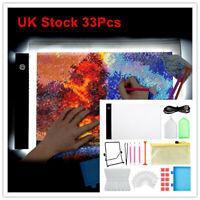 33Pcs/Set 5D Diamond Painting Accessories Tools A4 LED Light Box Light Board Kit