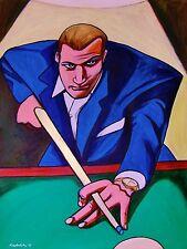THE HUSTLER MOVIE PRINT POSTER paul newman fast eddie felson pool cue billiards
