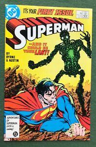 Superman #1 DC Comics Bronze Age John Byrne Terry Austin Clark Lois Krypton vfnm