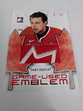 Dany Heatley 2007-08 ITG O Canada Game Used Emblem Chicago National 1/1 Patch