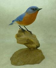 Eastern Bluebird Original Wood Carving