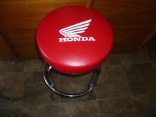 HONDA RED HONDA TRX ATC WING SEAT Bar Counter STOOL with Swivel & chrome frame