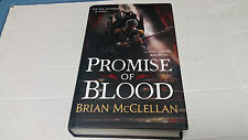 Promise of Blood by Brian McClellan (2013, Hardcover) SIGNED BRITISH EDITION