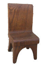 Hand-Carved Oak, Fairly Large Dollhouse Chair With Amazing Grain