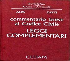 COMMENTARIO BREVE  AL CODICE CIVILE. LEGGI COMPLEMENTARI - ALPA, ZATTI - CEDAM