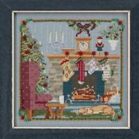 MILL HILL Counted Cross Stitch Beads Kit ST NICK QUARTET Stockings were Hung